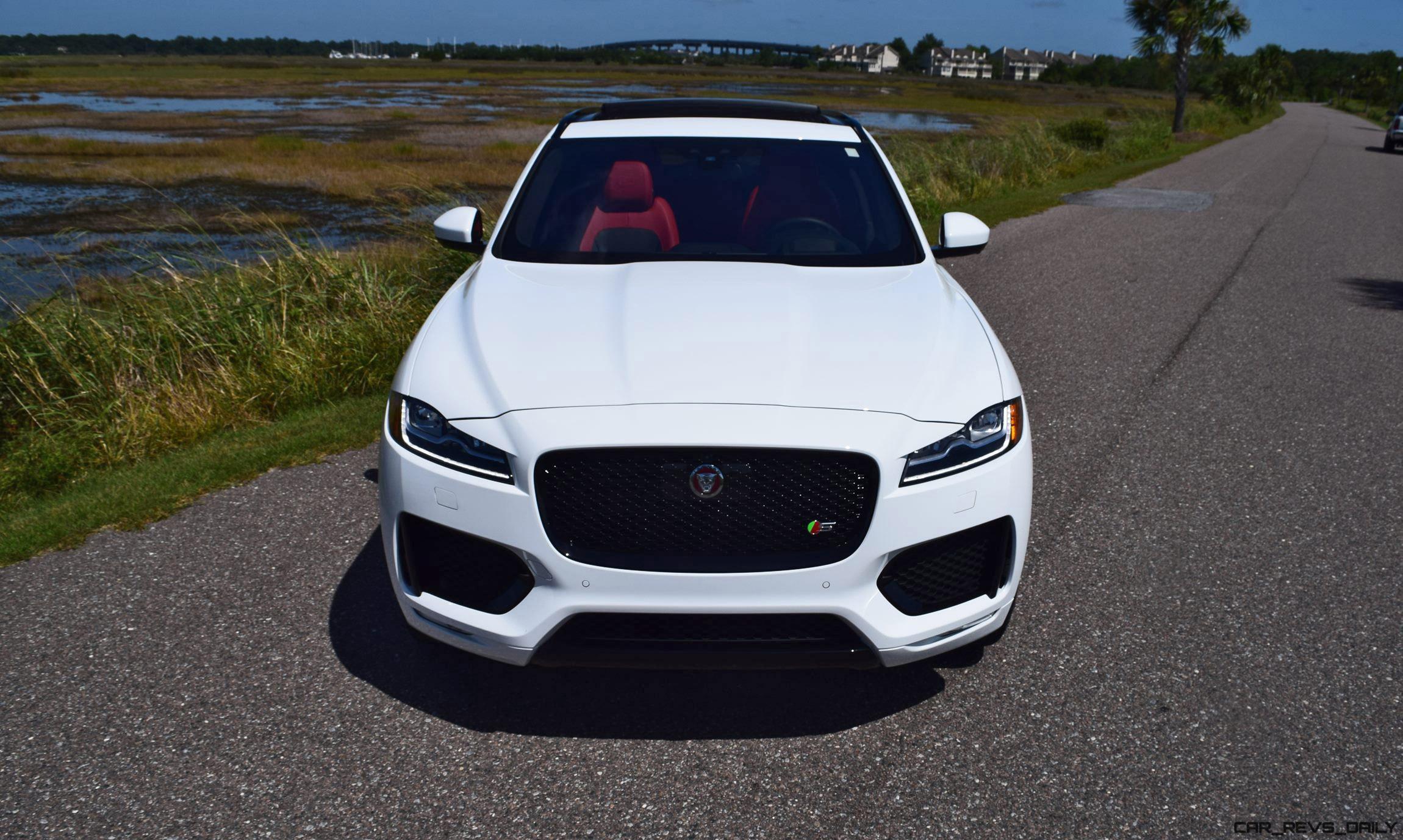2017 Jaguar F Pace S White Exterior 53