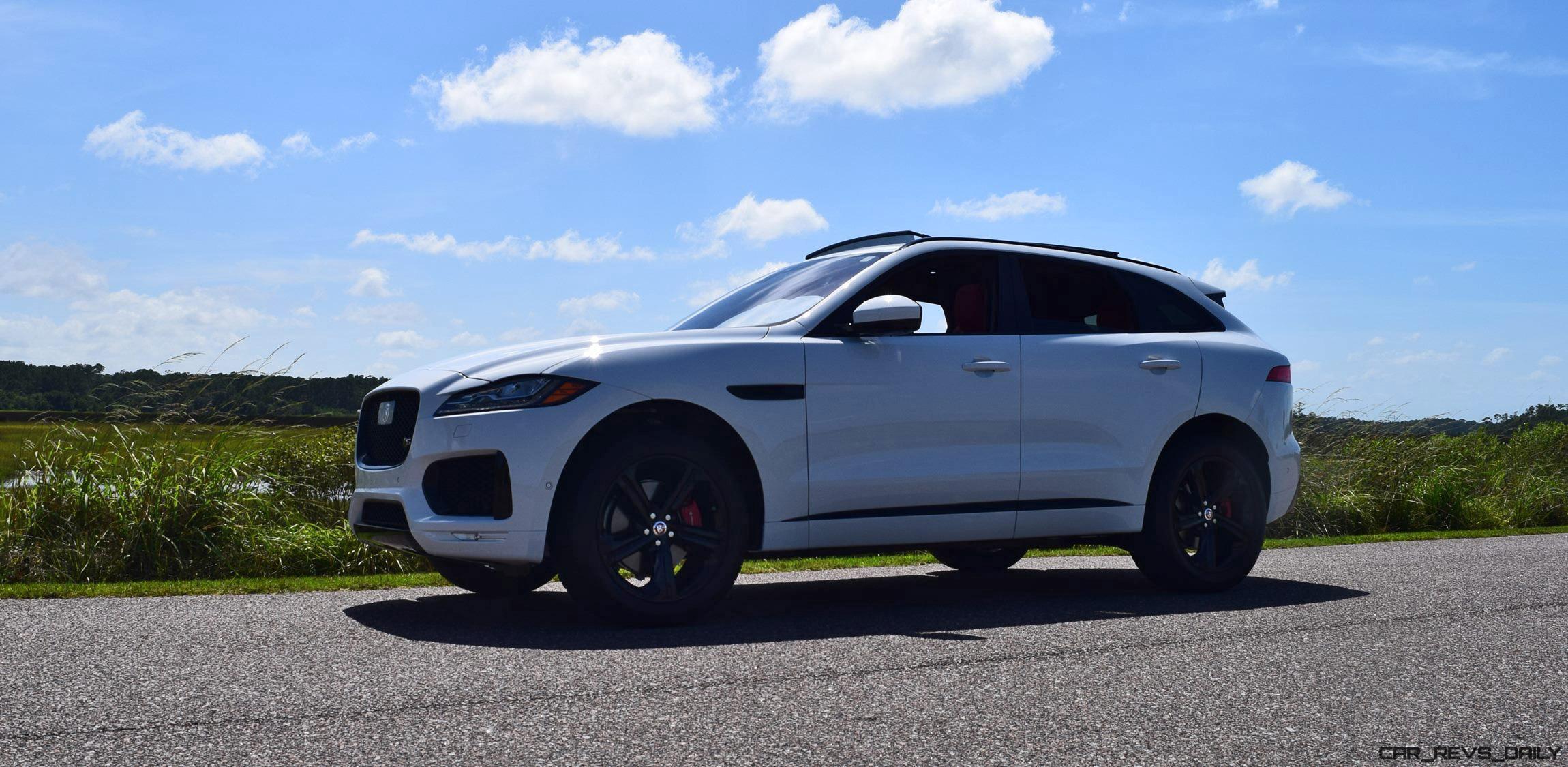 2017 Jaguar F Pace S White Exterior 69