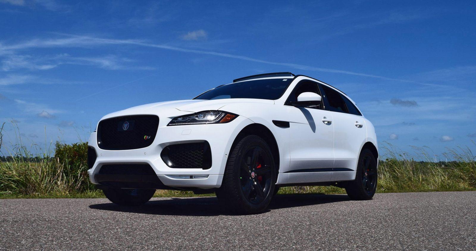 2017 Jaguar F Pace S White Exterior 6