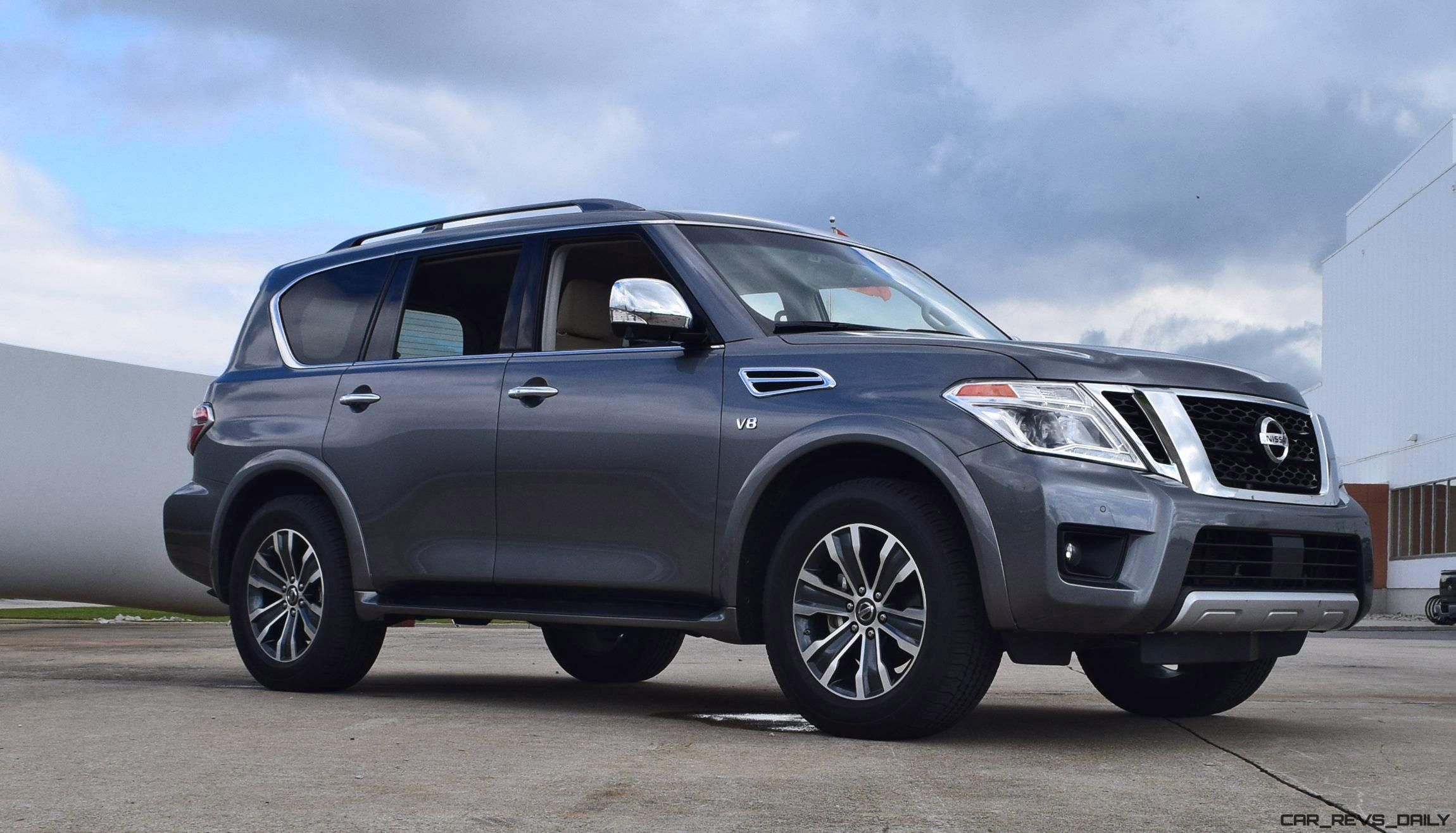 2017 nissan armada road test review. Black Bedroom Furniture Sets. Home Design Ideas