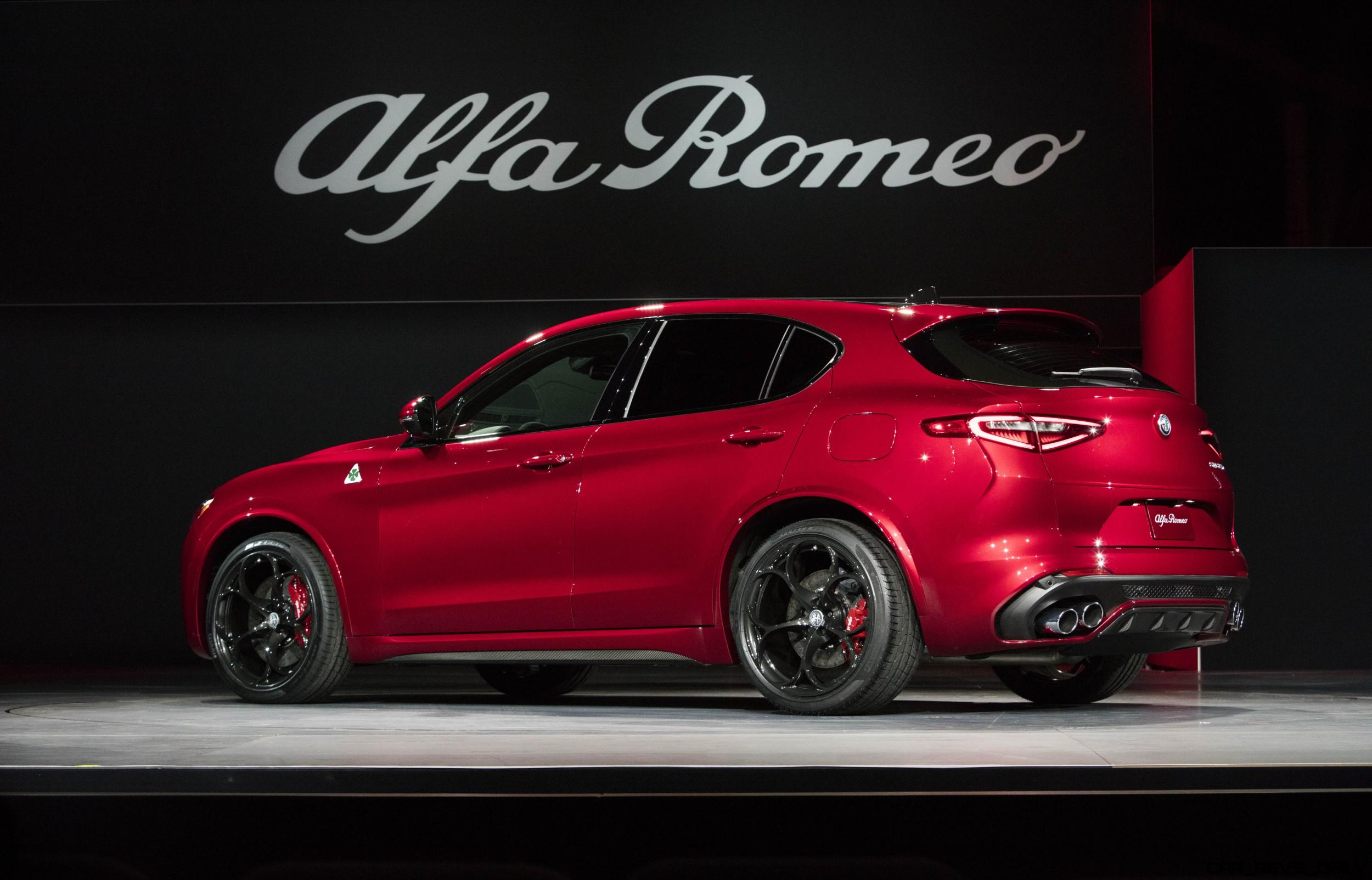 505hp 2018 alfa romeo stelvio high performance suv wows la world. Black Bedroom Furniture Sets. Home Design Ideas