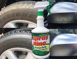 SHOCK RESULTS!  Spray Nine Heavy Duty Cleaner VS. Yucky Brown Tires