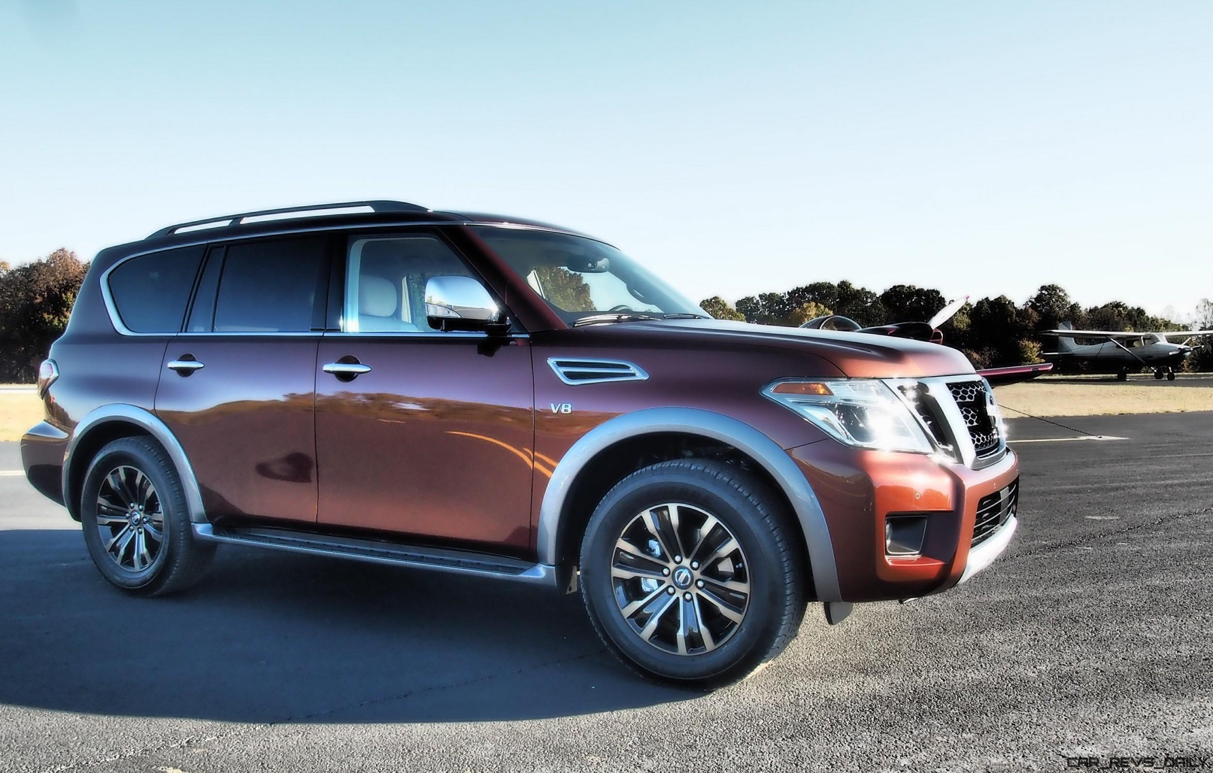 2017 nissan armada platinum road test review by tim. Black Bedroom Furniture Sets. Home Design Ideas