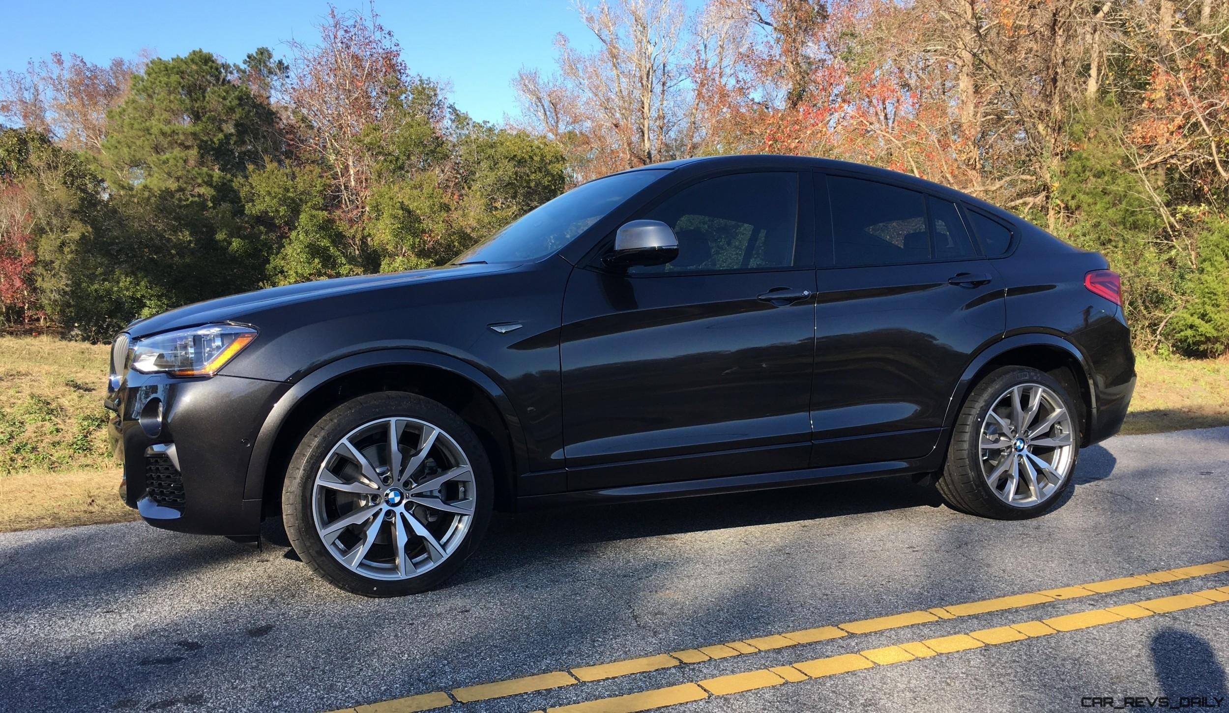 first drive photos 2017 bmw x4 m40i widescreen gallery. Black Bedroom Furniture Sets. Home Design Ideas