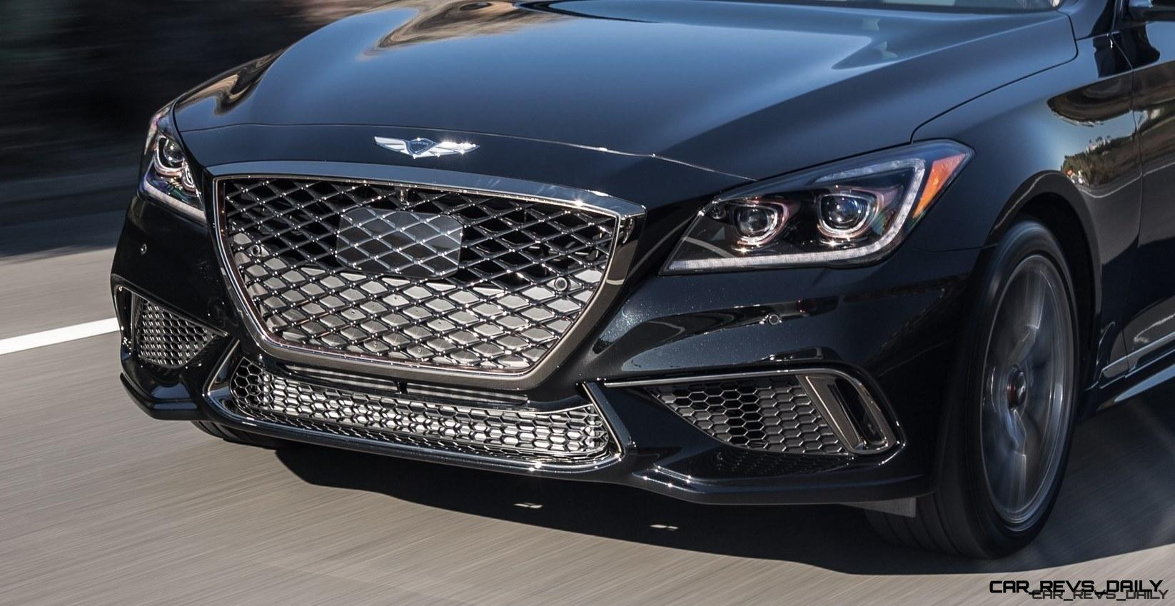2018 Genesis G80 Sport Shows Gorgeous New Style, V6TT Upgrade