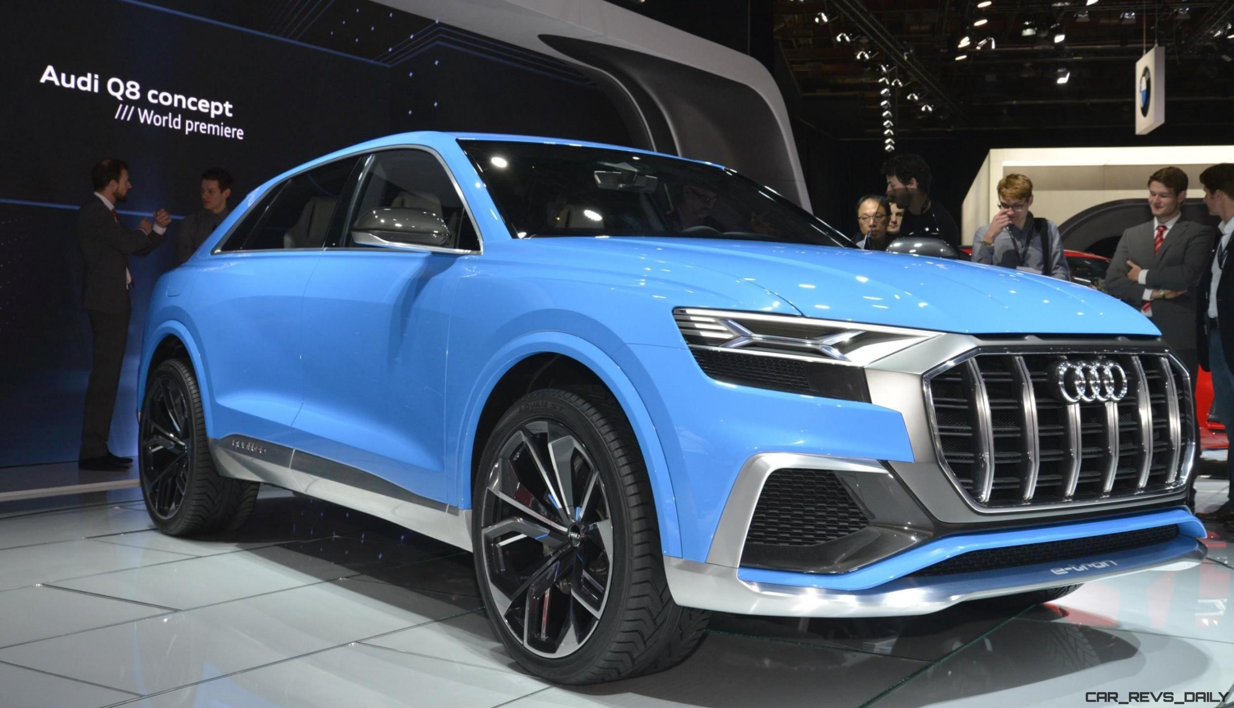 2017 Audi Q8 Concept Near Production Suv Limo Shows Face In Detroit 187 Car Shopping