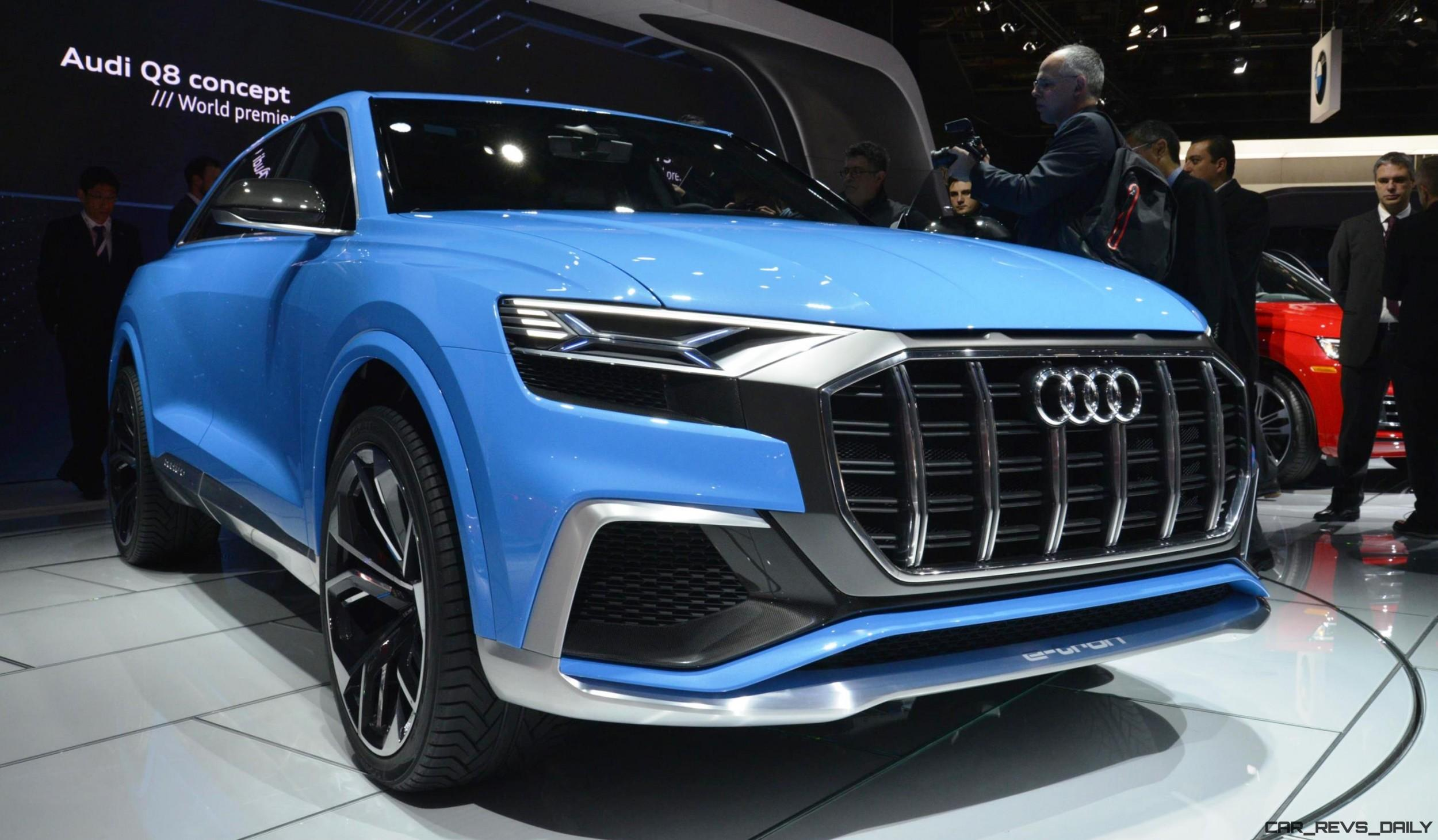 2017 Audi Q8 Concept Near Production SUV Limo Shows Face in Detroit