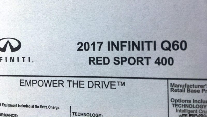 2017 INFINITI Q60 Red Sport 400 - Interior Photos 16