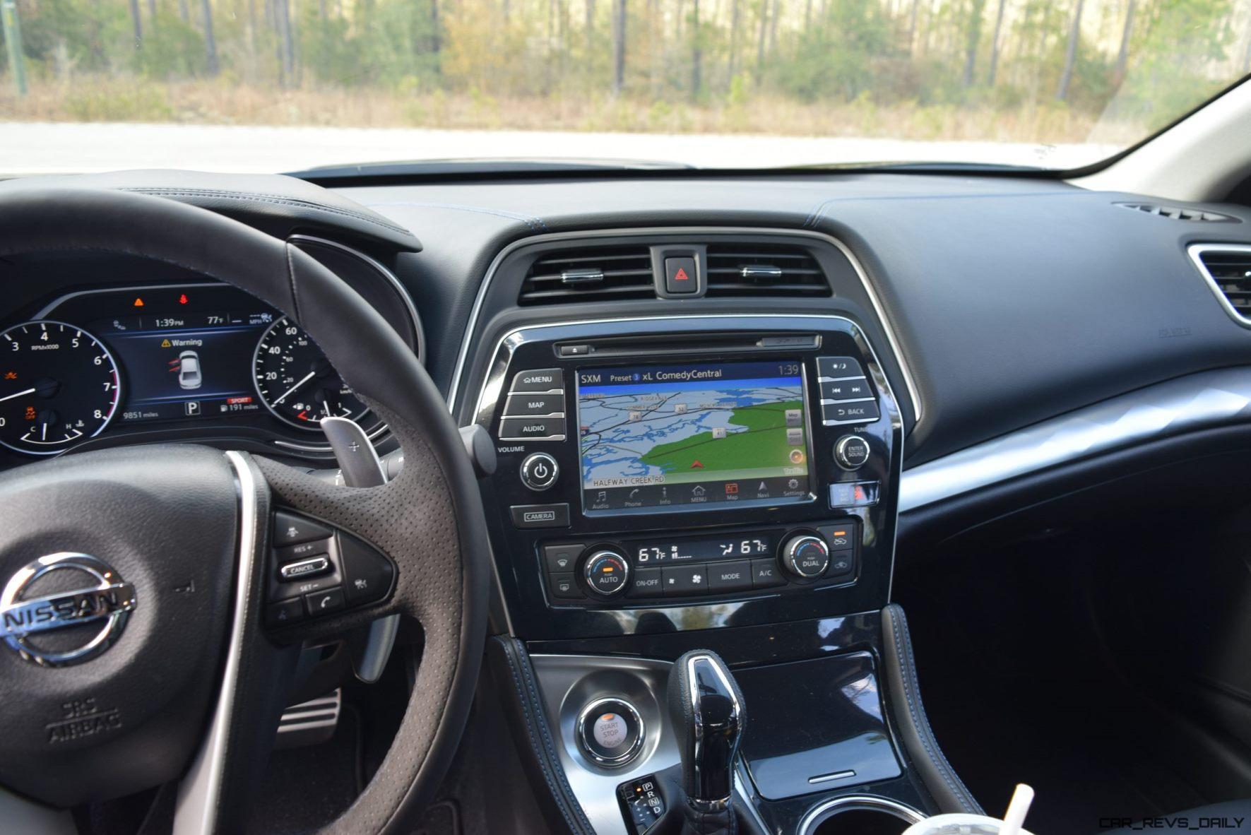 2017 Nissan Maxima Sr Midnight Edition Interior 11