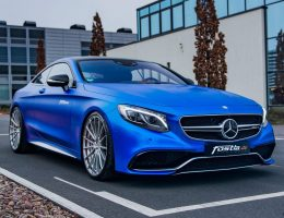 2017 Mercedes-AMG S63 Coupe By FOSTLA.de Is Dripping Blue Chrome