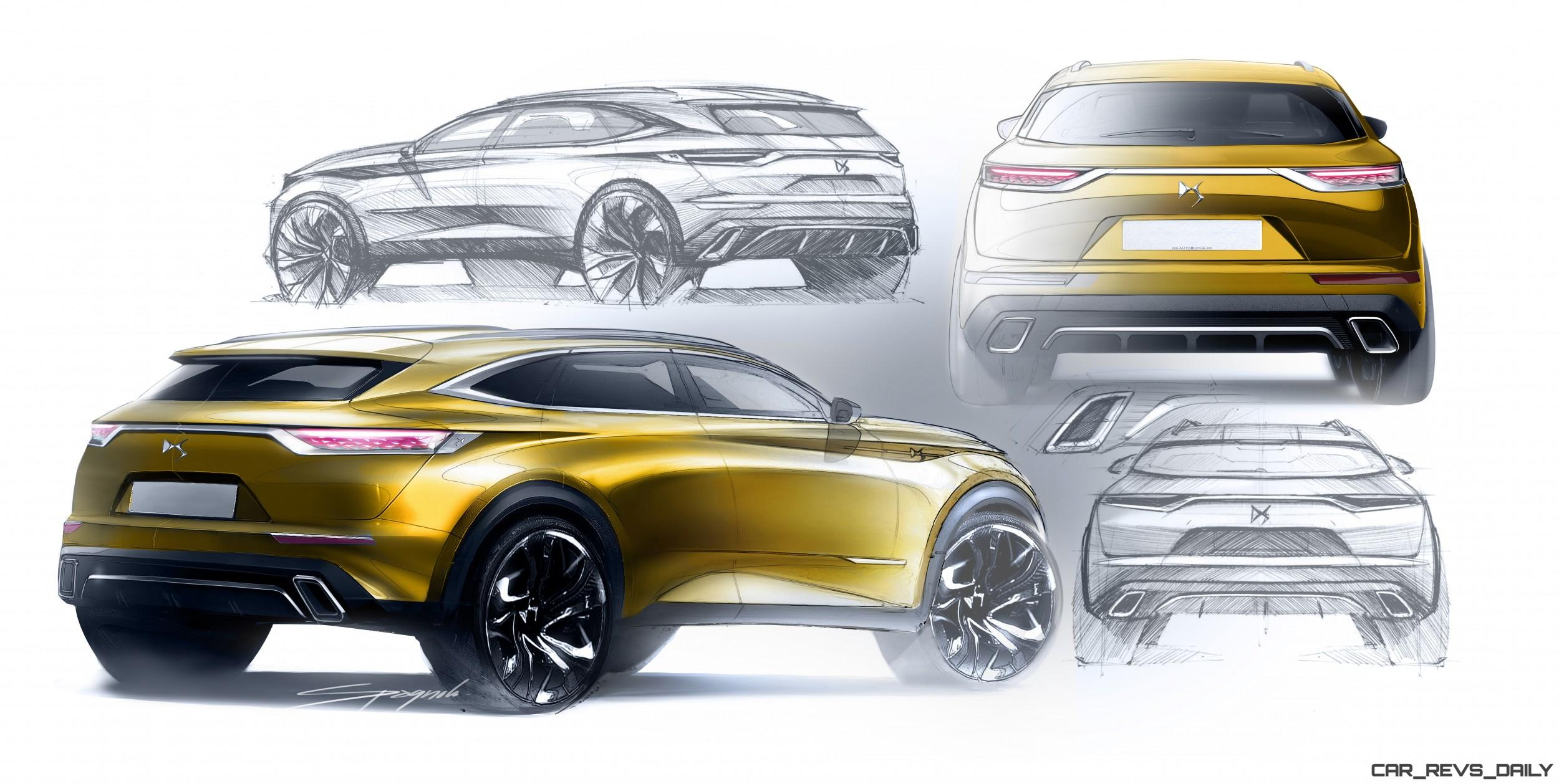 Ds Crossback Design Sketch Montage Suv Rear