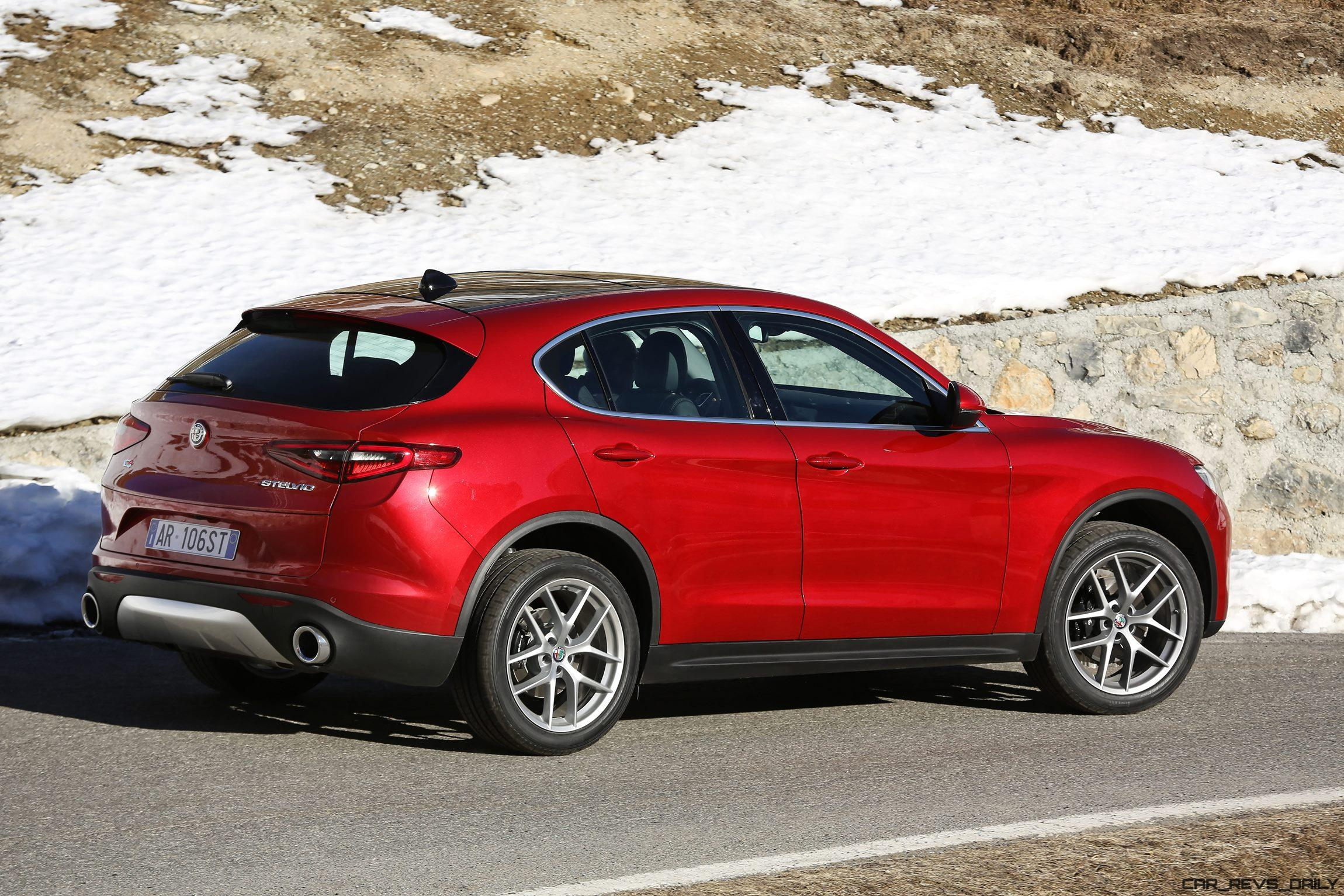 2018 alfa romeo stelvio 70 dynamic pics on namesake road car revs. Black Bedroom Furniture Sets. Home Design Ideas