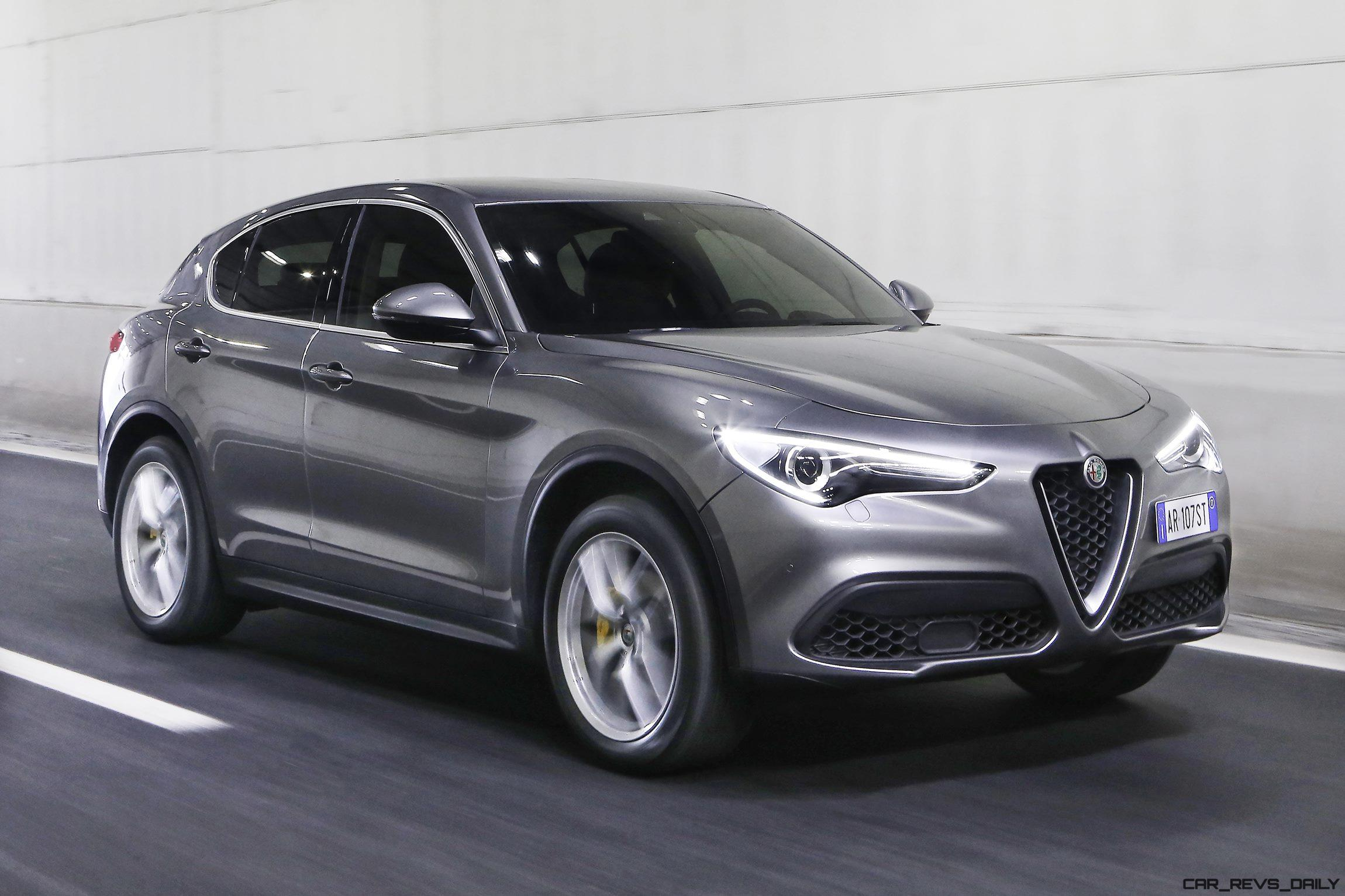 2018 Alfa Romeo Stelvio 70 Dynamic Pics On Namesake Road Rear Axle