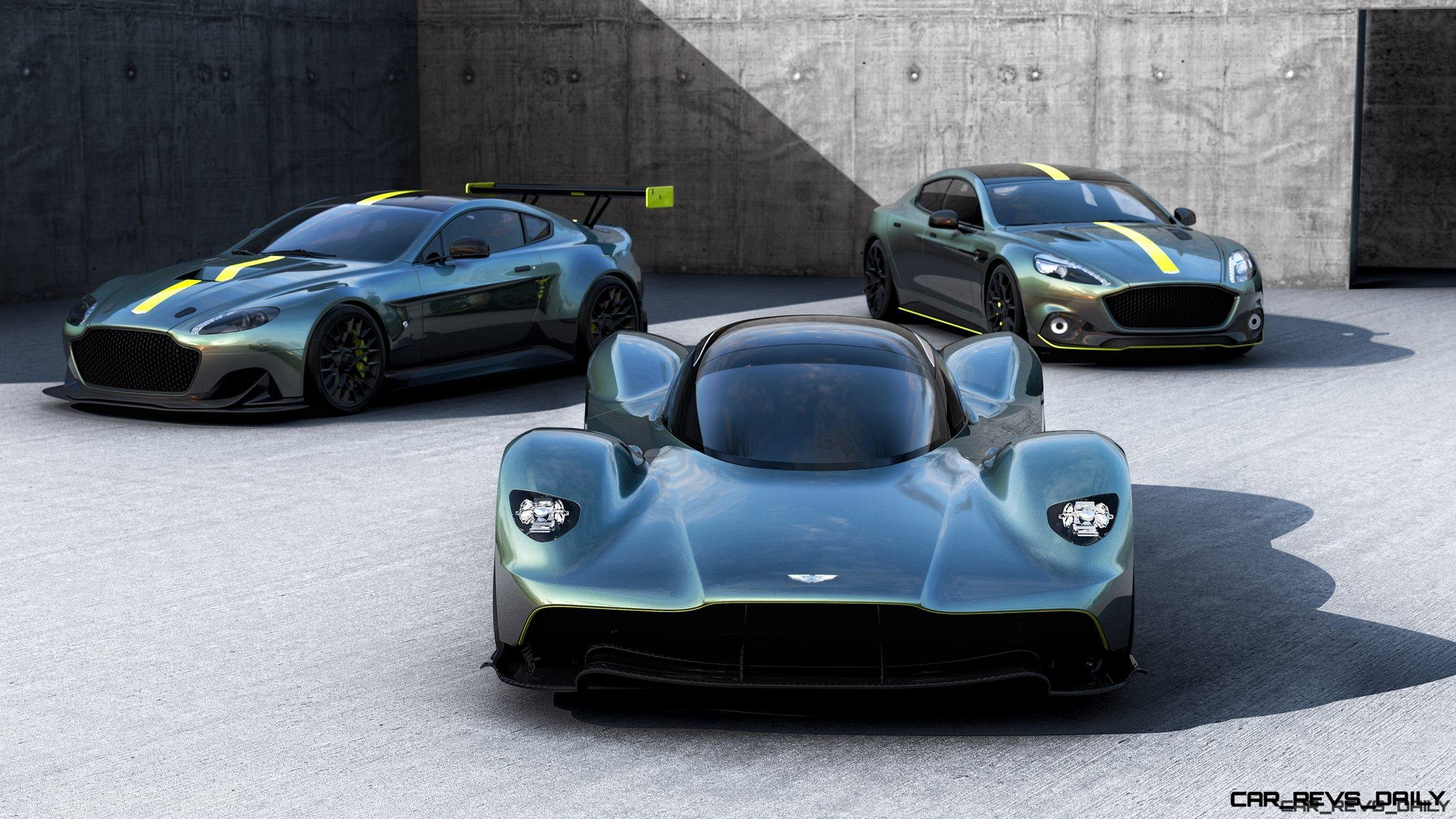 Aston Martin Unveils VALKYRIE, Rapide AMR And Vantage AMR