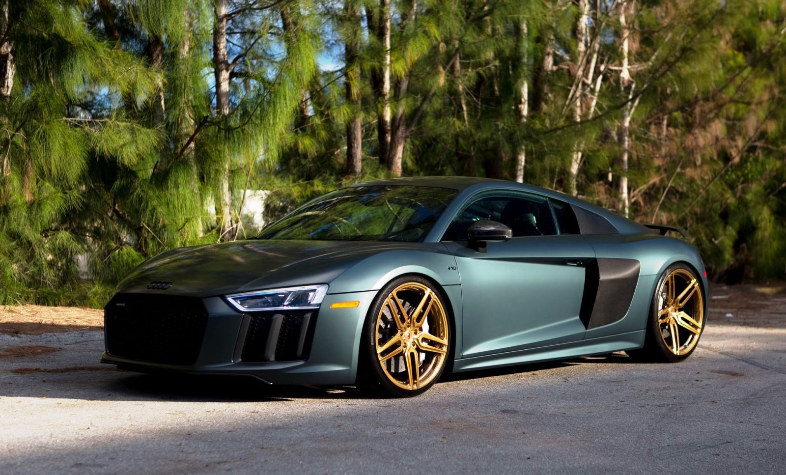 Gallery 2017 Audi R8 V10 Plus On Vossen Gold Forged