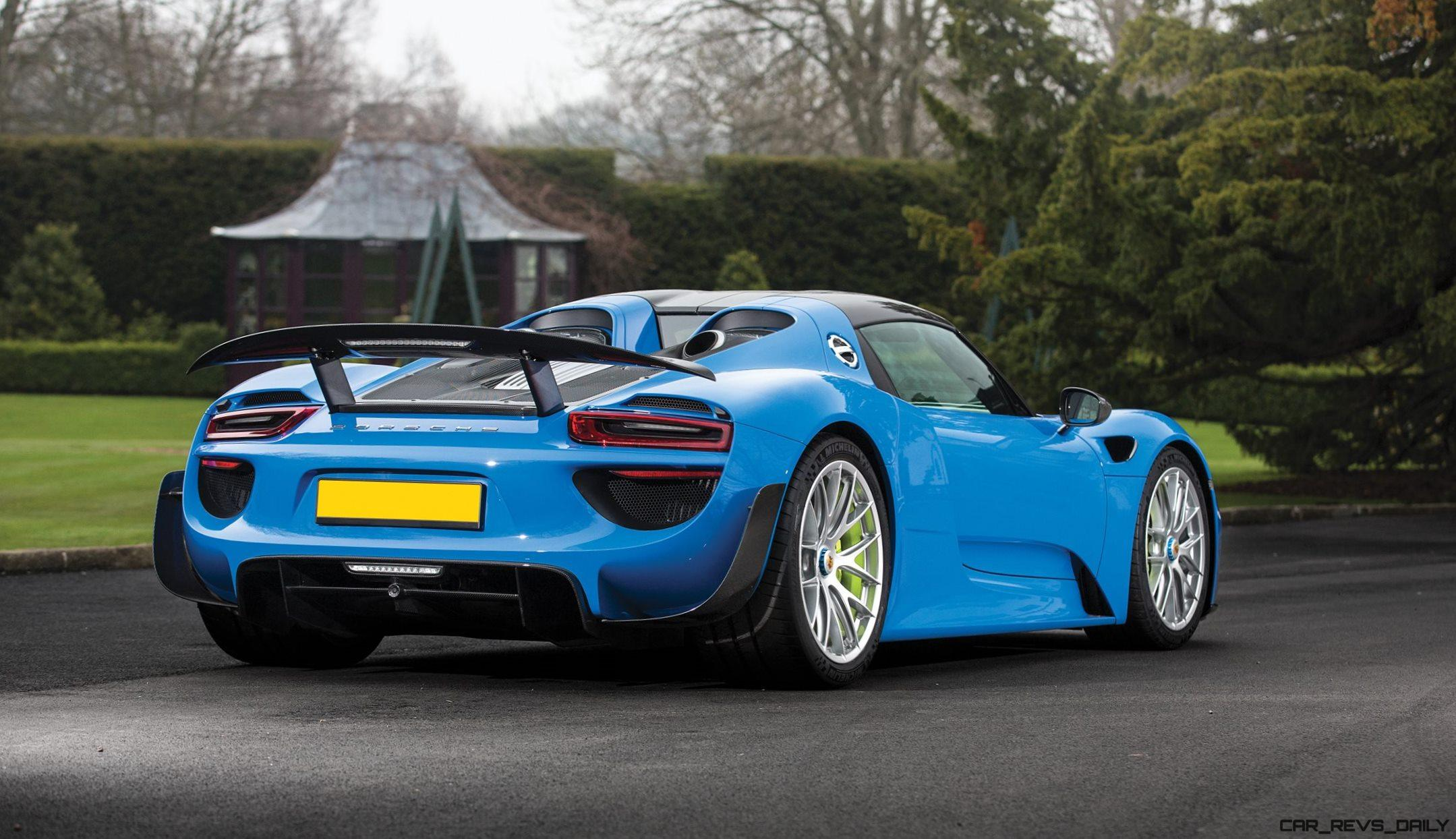 arrow blue porsche 918 spyder 2. Black Bedroom Furniture Sets. Home Design Ideas