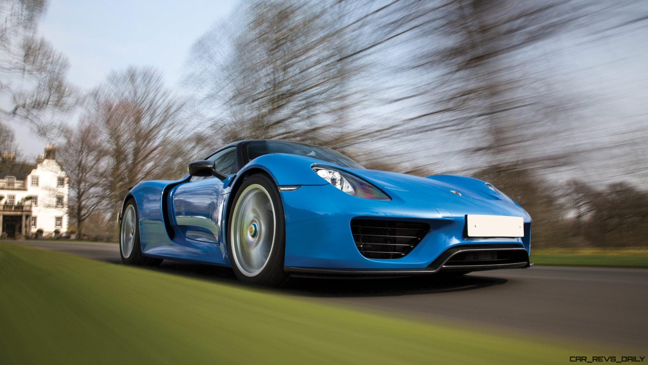 Arrow-Blue-Porsche-918-Spyder-20 Gorgeous Porsche 918 Spyder Acid Green Cars Trend
