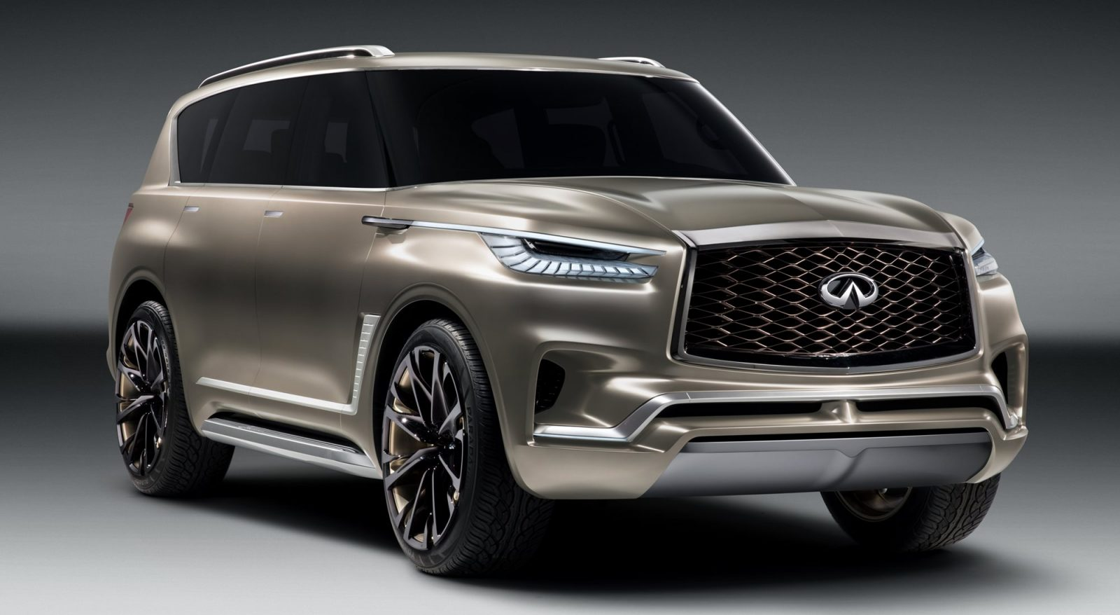 animated debut 2017 infiniti qx80 monograph concept. Black Bedroom Furniture Sets. Home Design Ideas