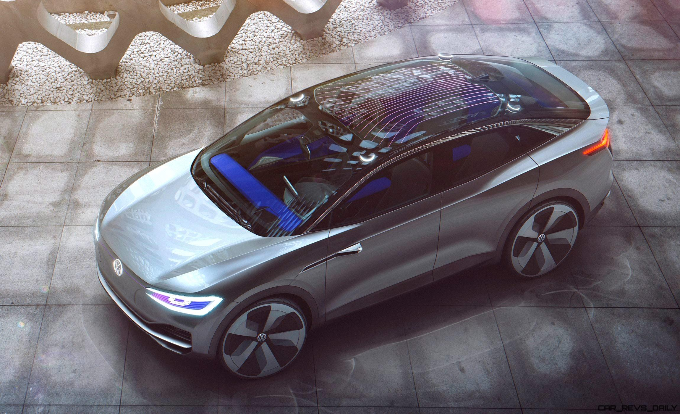 2017 VW ID Crozz Concept - Goofy Preview of Future E-SUV