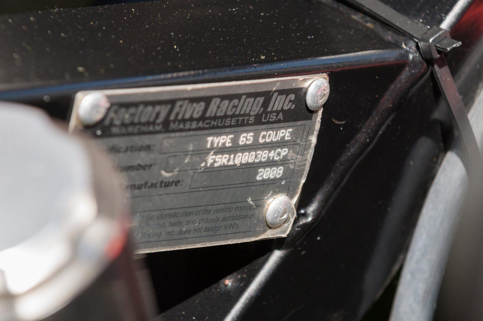 2008 Factory Five Type 65 'Daytona' Coupe 33