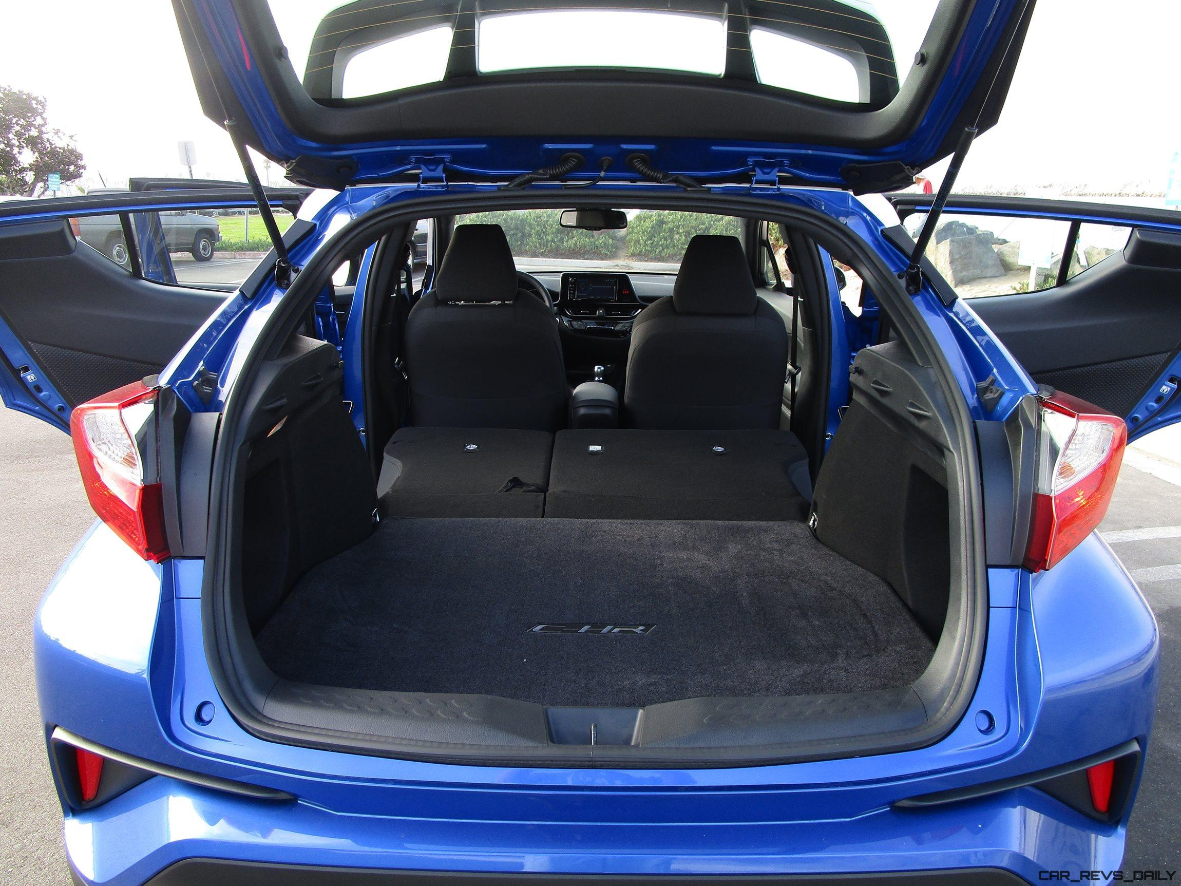 ... Cargo Space Is Excellent, And Since The C-HR Offered Only In Front  Wheel Drive\u2013 No Rear Drivetrain To Get Way \u2013 60/40 Split Seats