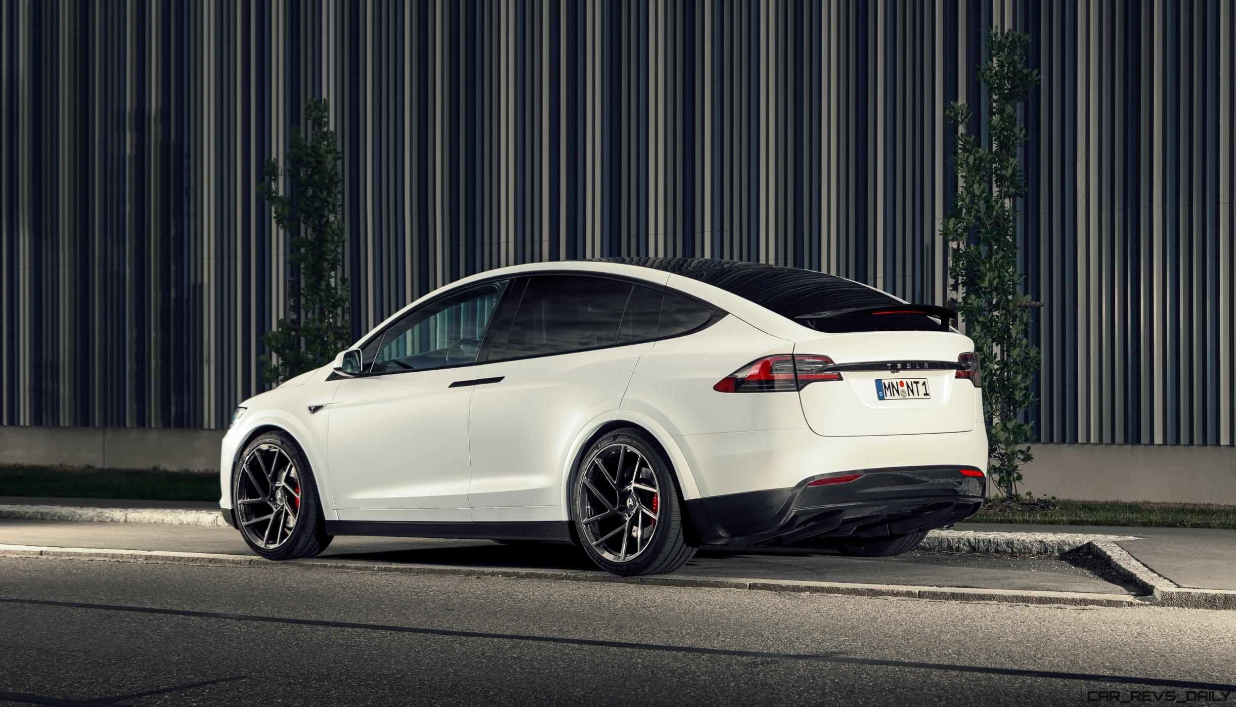 Tesla Model X Range >> Novitec Debuts Tesla Model X Stage One Bodykit, Vossen 22s ...
