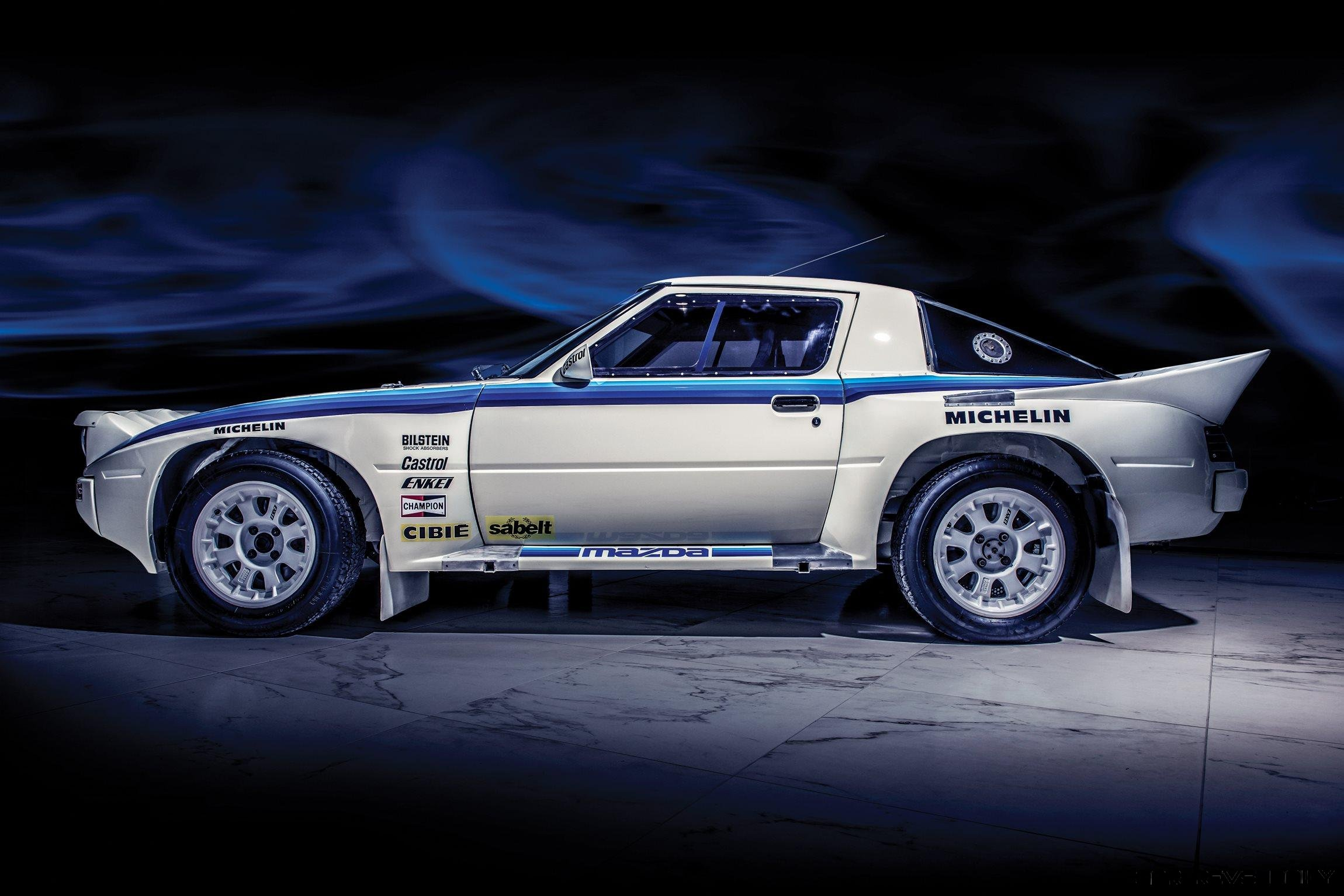 1985 mazda rx 7 evo group b works rally car rm london 2017. Black Bedroom Furniture Sets. Home Design Ideas