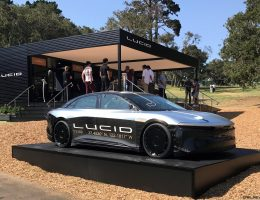 217mph LUCID Alpha Speed Car + 2018 LUCID Air at Pebble Beach