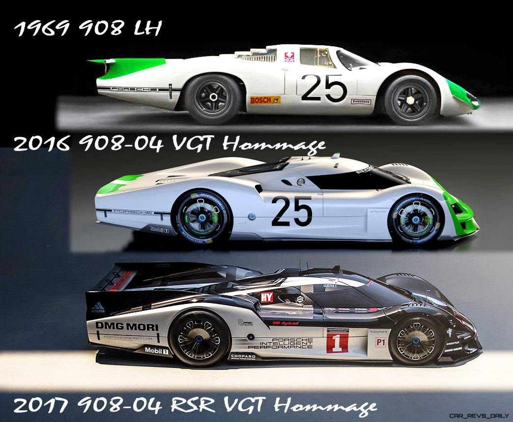 Here is a look at the original 908 LH in action on track, plus a  side-by-side look at the original and its progeny.