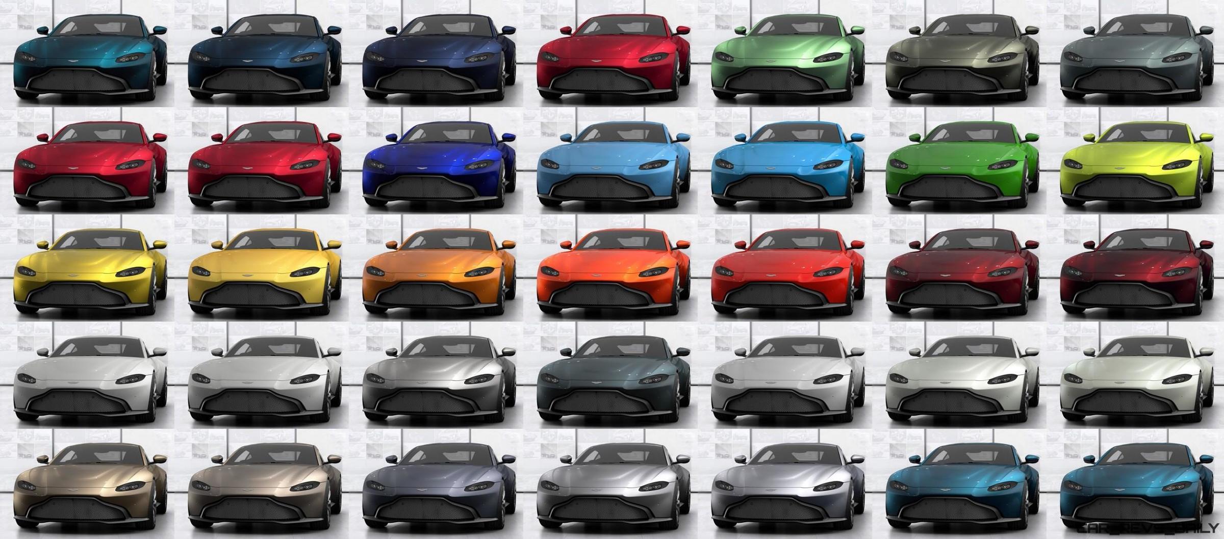 2018 Aston Martin Vantage All Colors 13 Tile