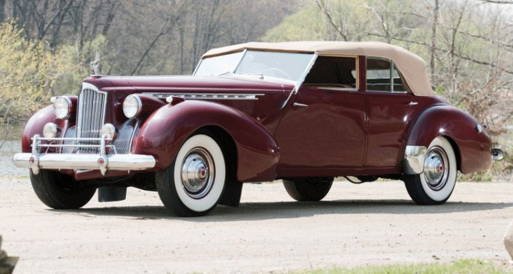 1940 Packard Custom Super Eight Convertible Sedan by Darrin GIF header