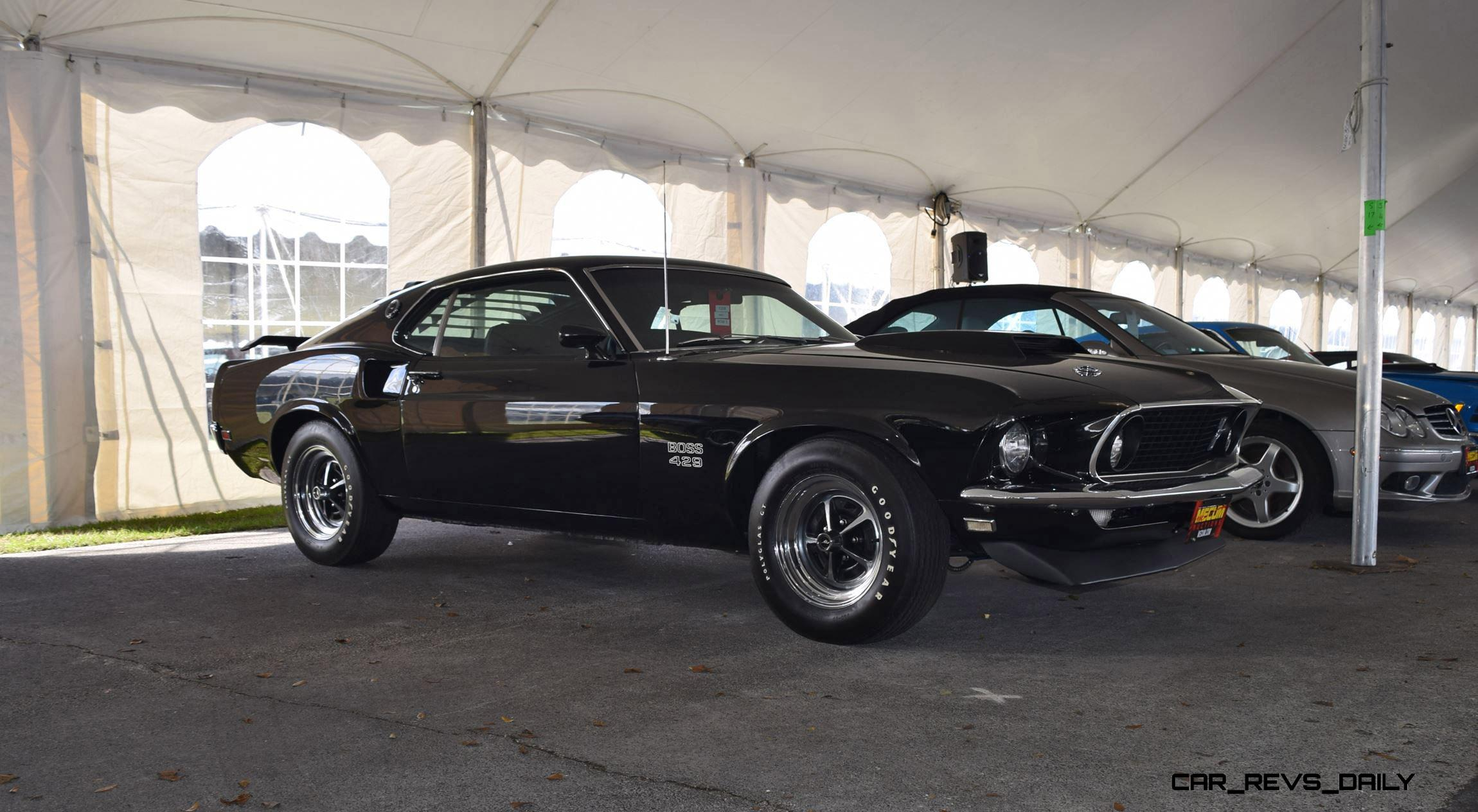 mecum 2016 florida favorites 1969 ford mustang boss 429 in raven black. Black Bedroom Furniture Sets. Home Design Ideas