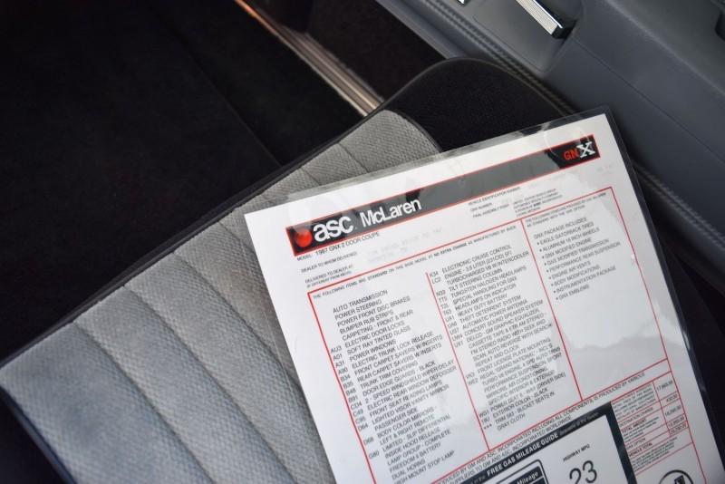 1987 Buick GNX Interior 9