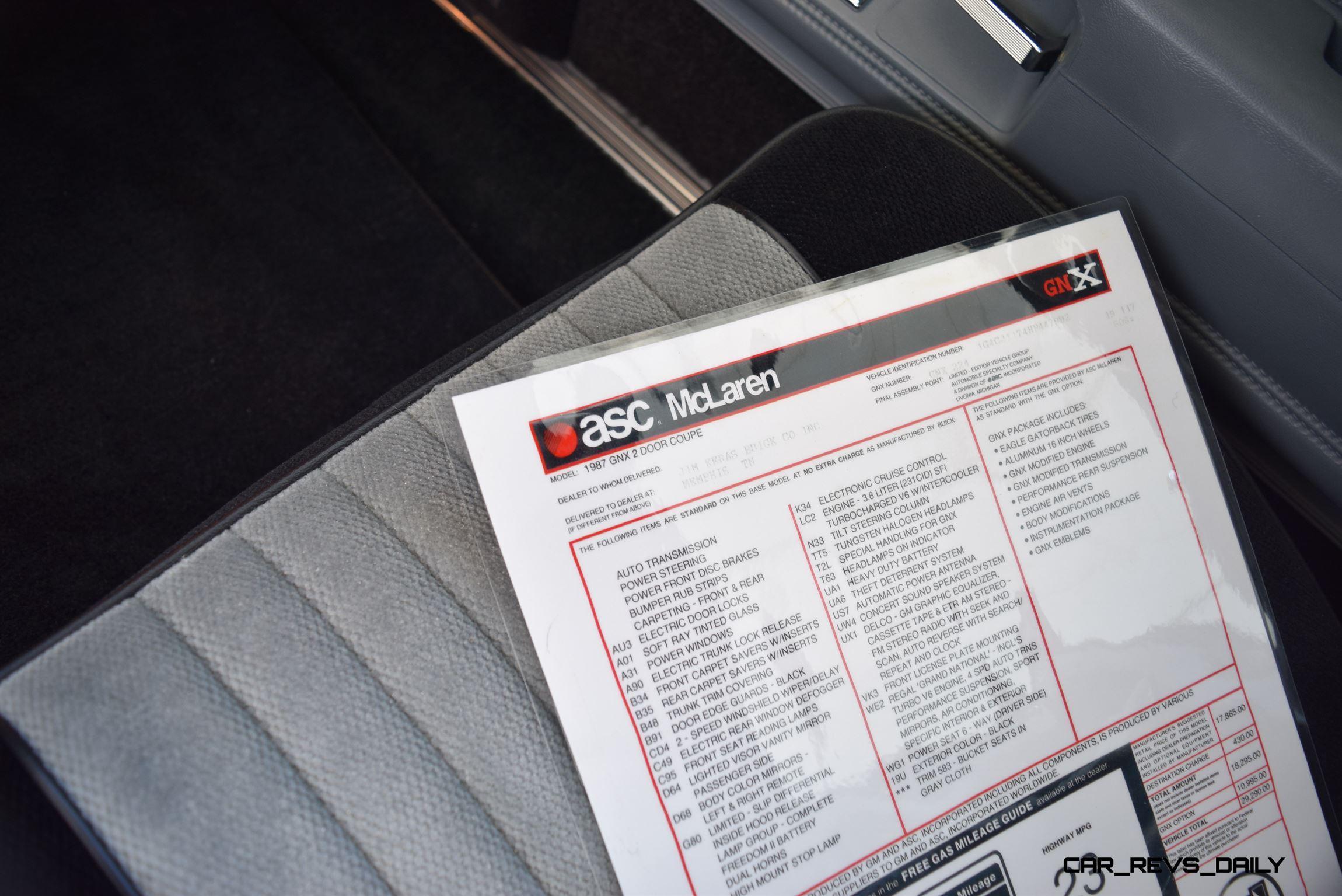 1987 Buick GNX by ASC McLaren - Detail Photo Flyaround ...