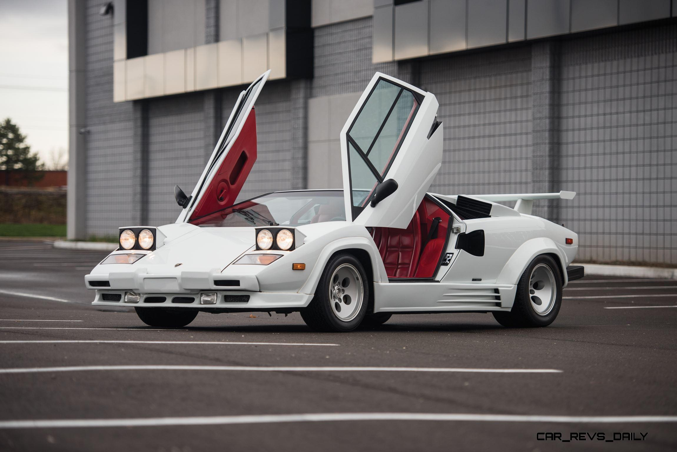 1988 5 lamborghini countach 5000 qv in bianco white is as. Black Bedroom Furniture Sets. Home Design Ideas
