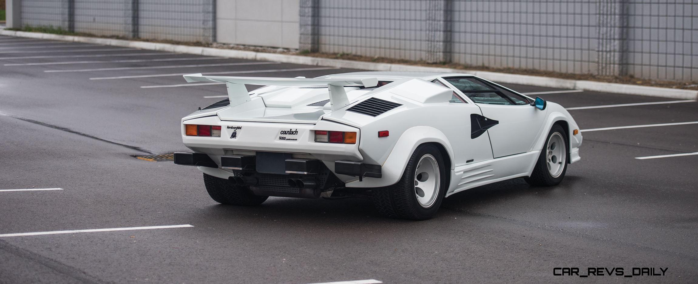 1988 5 Lamborghini Countach 5000 Qv In Bianco White Is As