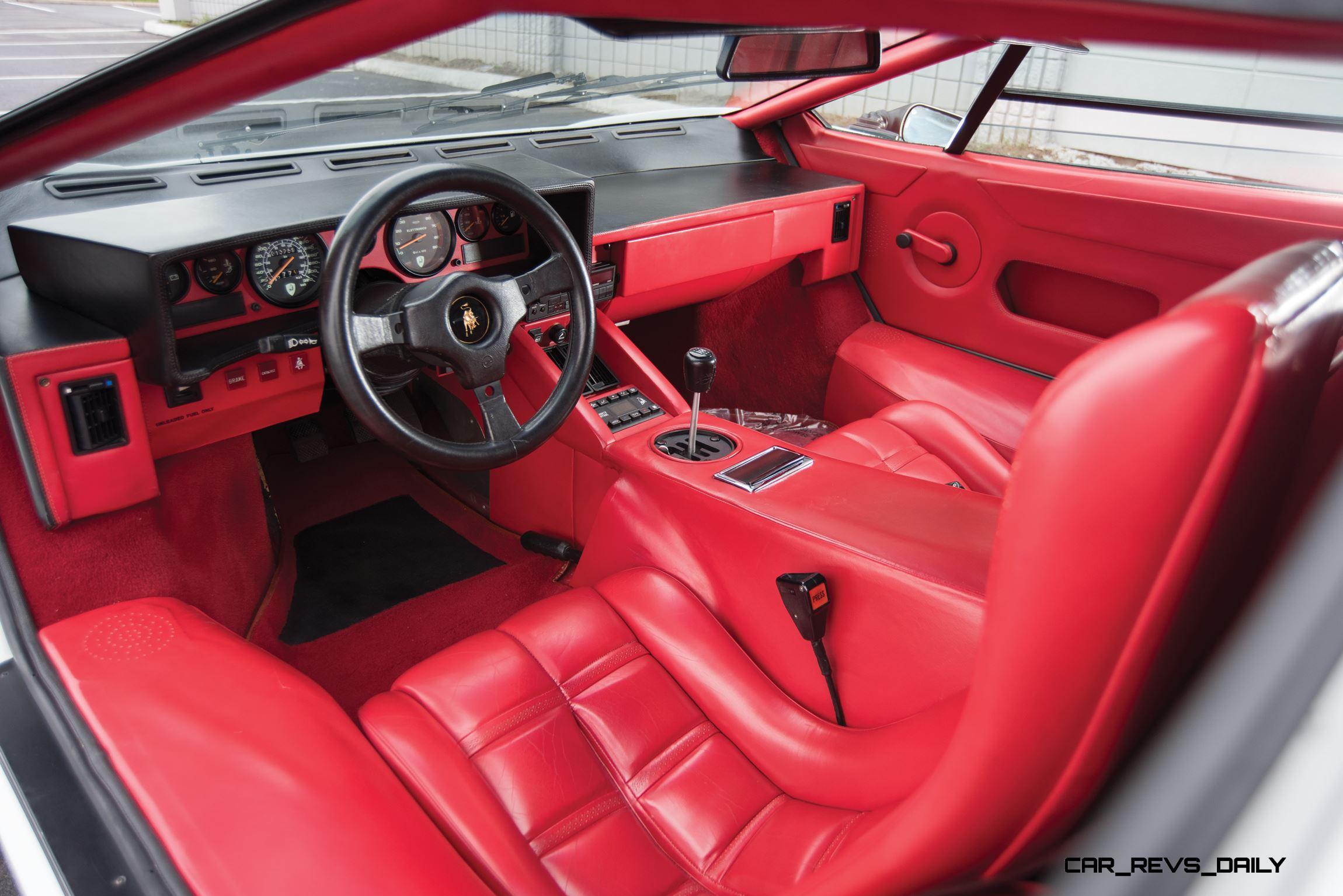 1988 5 Lamborghini Countach 5000 Qv In Bianco White 25