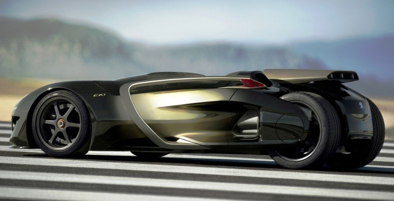 2011 Peugeot EX1 is Part EV, Part Quad-Bike and Part Track-Day Supercar 4