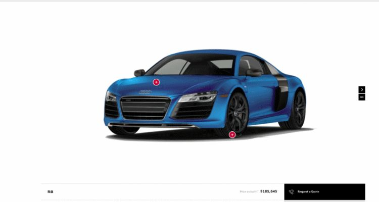 2014 Audi R8 V10 Plus GIF colors