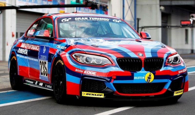 2014 BMW M235i Wearing Art Car Warpaint for Upcoming Nurbugring 24H Race 1