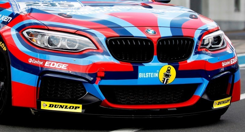 2014 BMW M235i Wearing Art Car Warpaint for Upcoming Nurbugring 24H Race 1-crop