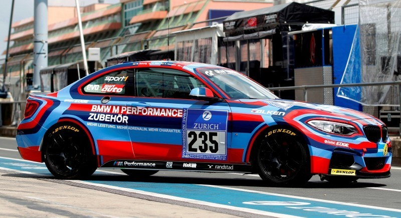 2014 BMW M235i Wearing Art Car Warpaint for Upcoming Nurbugring 24H Race 2