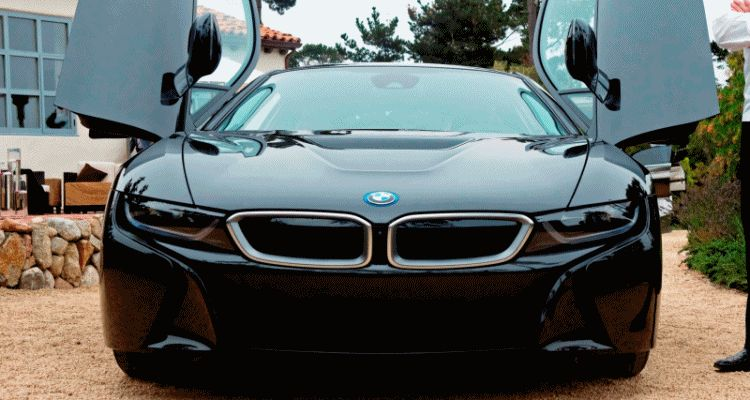 2014 BMW i8 pebble beach deliveries gif1