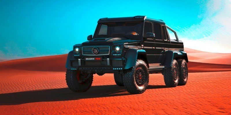 2014 BRABUS 700G 6x6 Is Most Lavish Off-Road Plaything Available 37