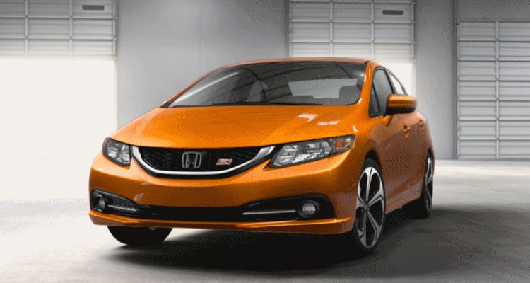 2014 Honda Civic Si Sedan ORNGE spinner gif1