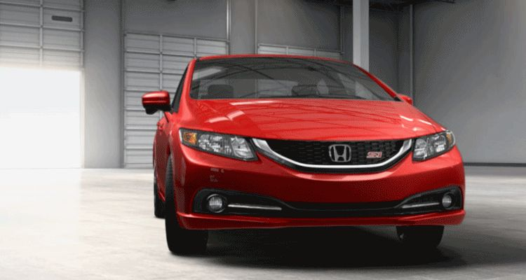 2014 Honda Civic Si Sedan RED spinner gif1