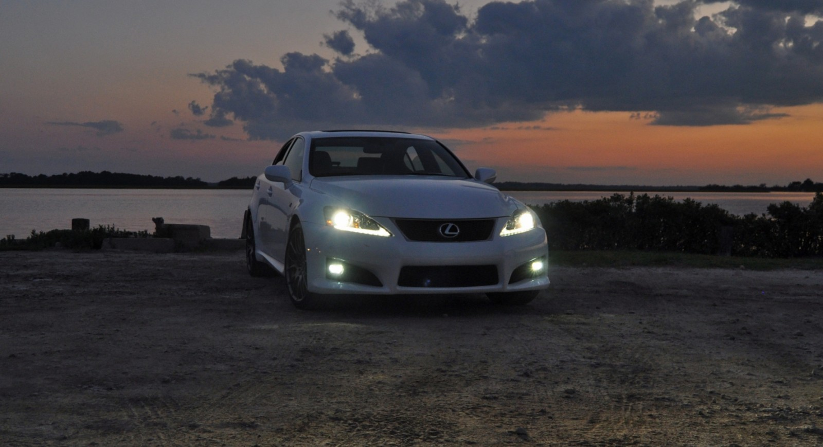 2014 Lexus IS-F Looking Sublime in Sunset Photo Shoot 2