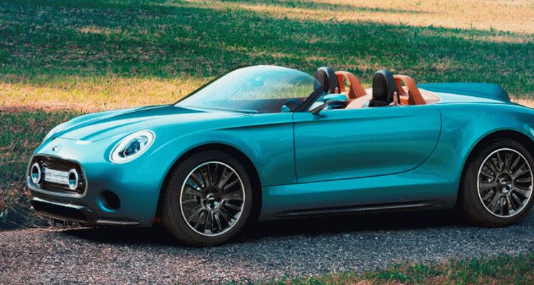 2014 MINI Superleggera Concept is Dreamy Roofless Speedster GIF