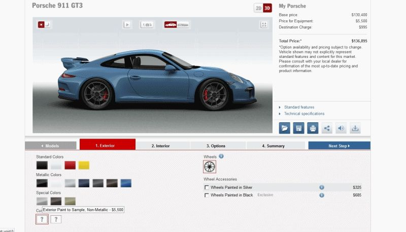 2014 Porsche 911 GT3 All Colors GIF
