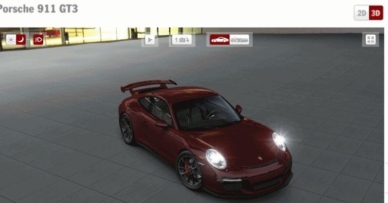 2014 Porsche 911 GT3 special red GIF